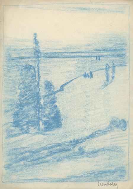 , 'Tree Composition (Hudson River in Background),' ca. 1905, Sullivan Goss