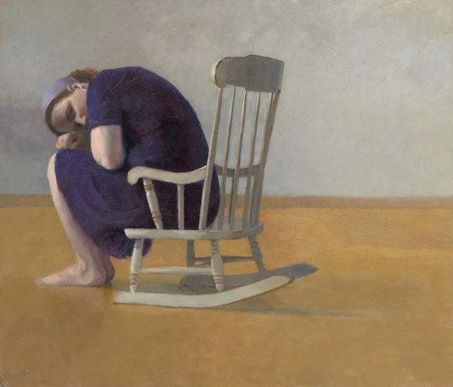, 'Self portrait in childhood rocking chair,' 2013, Rosenbach Contemporary