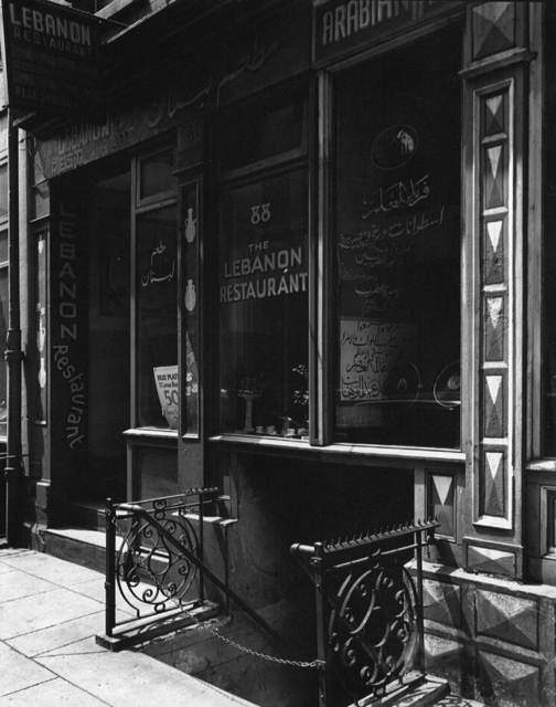 , 'Lebanon Restaurant (Syrian), 88 Washington Street, Manhattan,' ca. 1930, Holden Luntz Gallery