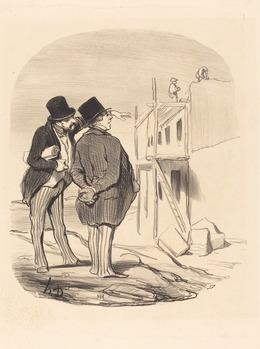 Honoré Daumier, 'Two Men Amid Ruins', National Gallery of Art, Washington, D.C.