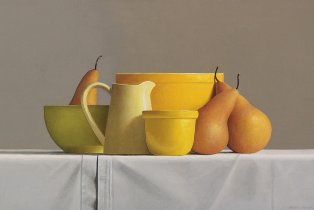 Janet Rickus, 'Bosc Pears and Pottery ', 2018, Gallery Henoch