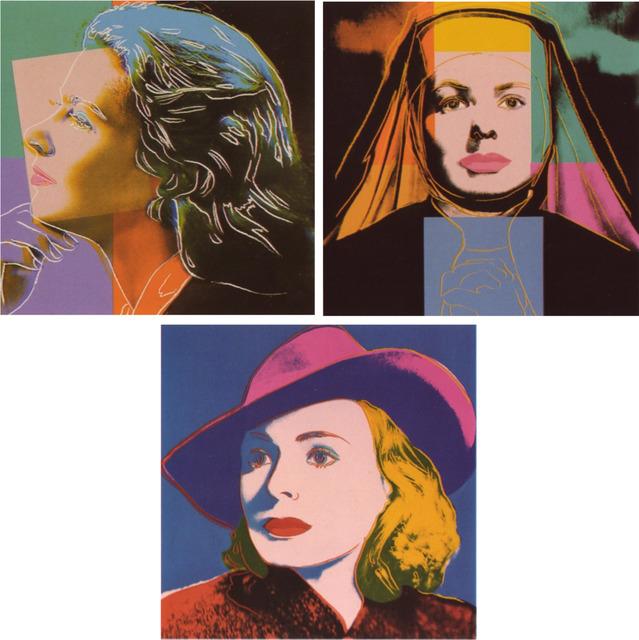 Andy Warhol, 'Ingrid Bergman', 1983, Print, Portfolio of three screenprints on Lenox Museum Board, Coskun Fine Art