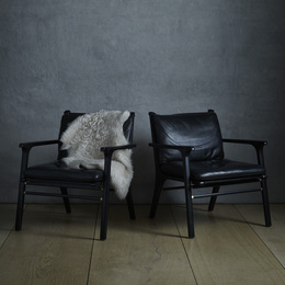 Ren Collection lounge chairs, pair