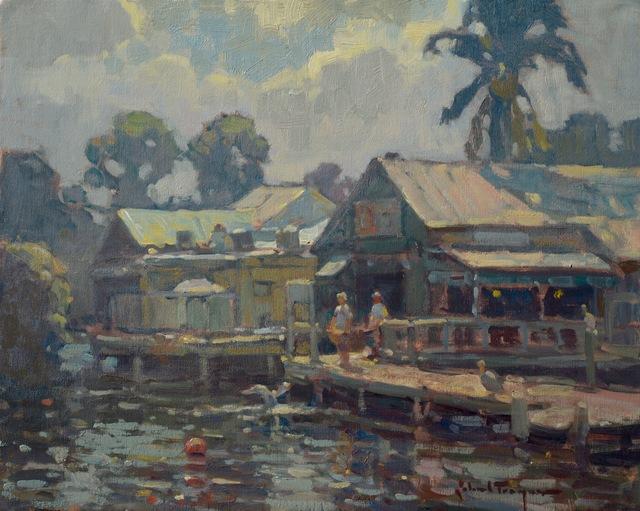 , 'Riverside Cafe,' , J. Cacciola Gallery