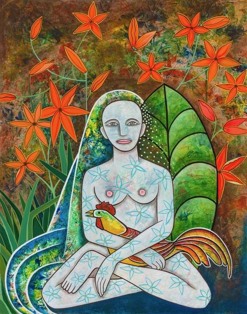 Alicia Leal, 'L mujer del galo | Woman with Cock', 2018, ArteMorfosis - Galería de Arte Cubano