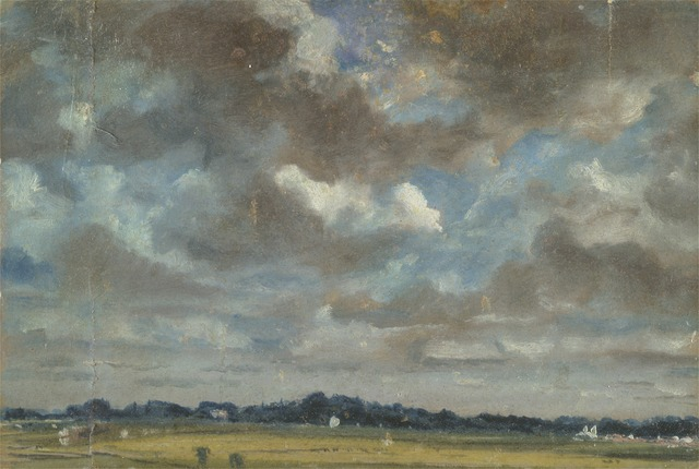 John Constable, 'Extensive Landscape with Grey Clouds', ca. 1821, Yale Center for British Art