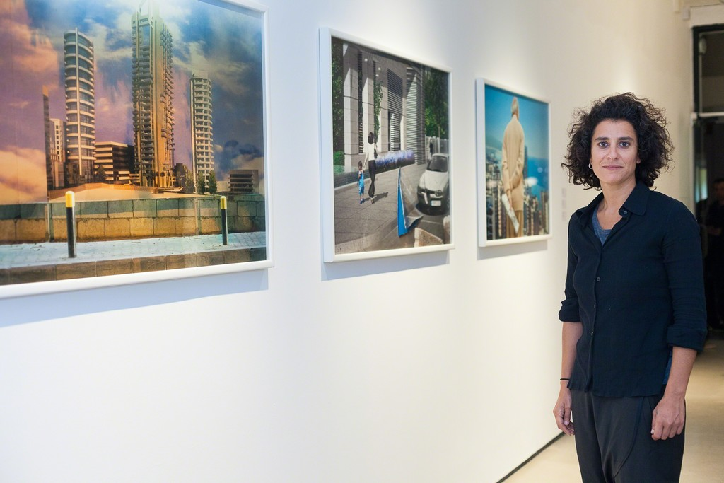 Randa Mirza, with her Beirutopia series. Photography by Susanne Hakuba.