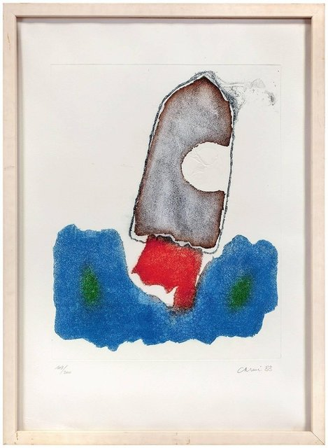 Eugenio Carmi, 'Abstract Composition Aquatint collage', 1980-1989, Lions Gallery