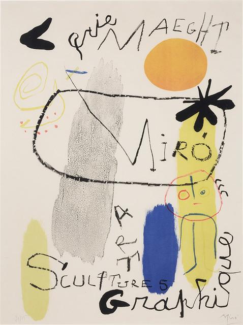 Joan Miró, 'Poster For Exhibition 1950 (Mourlot 92)', 1950, Doyle