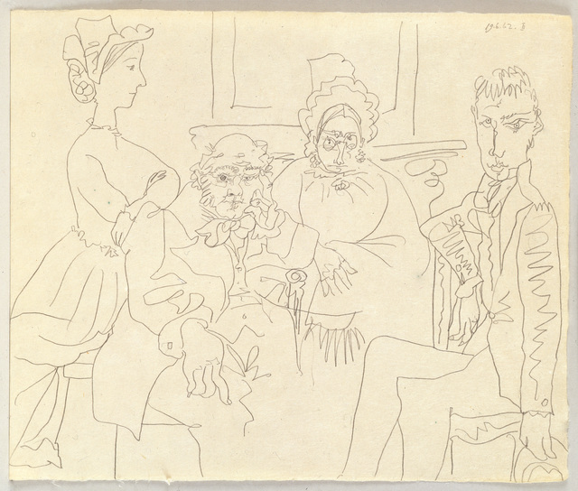 , 'Familie Balzacienne (Family, After Balzac),' 1962, Pace Gallery