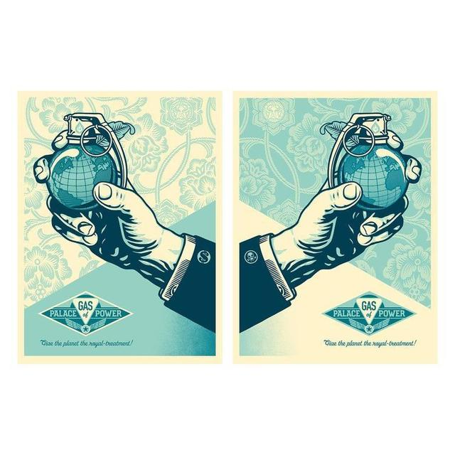 Shepard Fairey, 'Royal Treatment Diptych ', 2016, Print, Two Screen Print's On Creme Speckle Tone Paper, New Union Gallery