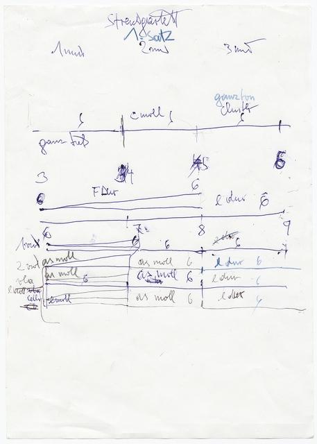 Hermann Nitsch, 'Partitur des Streichquartetts für Albertina', 2018, Galerie Elisabeth & Klaus Thoman