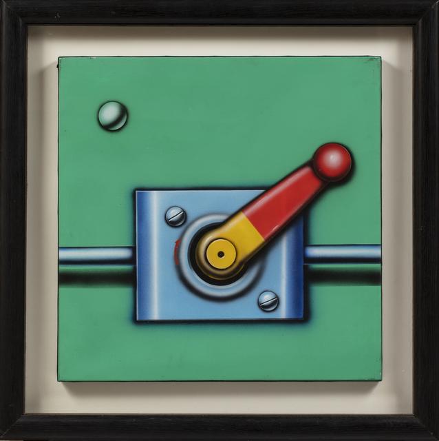 Peter Klasen, 'Manette/fond vert', 1998, Painting, Acrylic on canvas, Millon