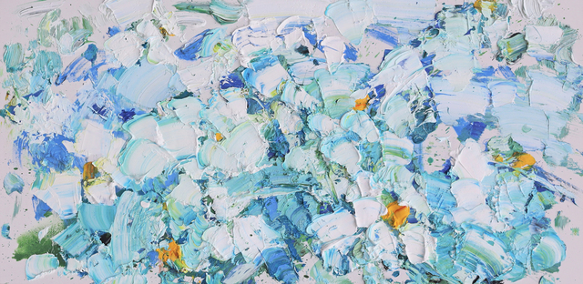 Zhang He, 'Turquoise Lakes II', 2020, Painting, Huile sur toile / Oil on Canvas, Galerie de Bellefeuille