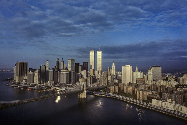 , 'Early Morning over the East River, Brooklyn Bridge, Lower Manhattan,' 1983, CHRISTOPHE GUYE GALERIE