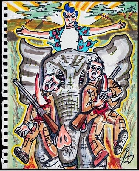 , 'Team Elephant,' 2018, Maccarone