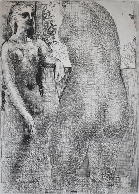 Pablo Picasso, 'Model and Back of Large Sculpture, from: La Suite Vollard   Modèle et grande sculpture de dos: La Suite Vollard', 1933, Gilden's Art Gallery
