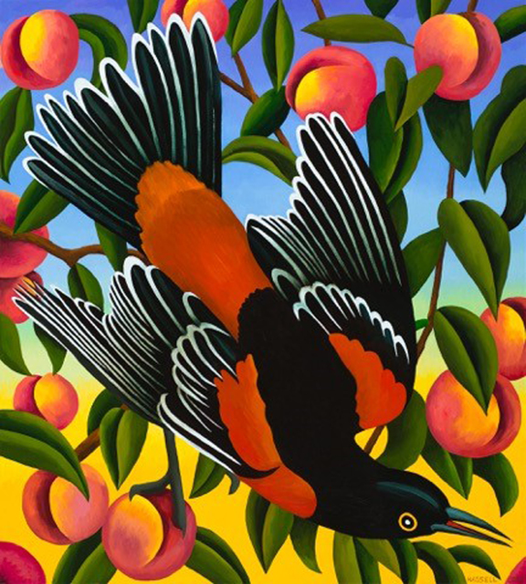 , 'Orchard Oriole with Peaches,' 2017, William Campbell Contemporary Art, Inc.
