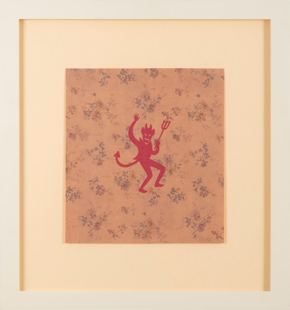 , 'No title (wallpaper with devil),' 2001, Gagosian