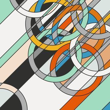Sarah Morris, '1980 [Rings]', 2009, Lougher Contemporary