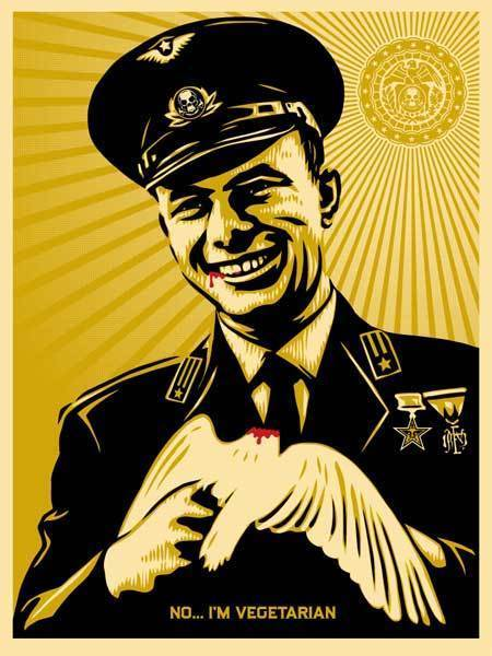 Shepard Fairey, 'No, I'm Vegetarian', 2007, DIGARD AUCTION