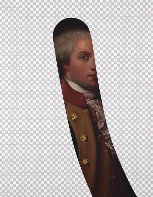, 'My Button is Bigger Than Your Button (Marquis De Lafayette, Erasure No. 7),' 2018, Modernism Inc.