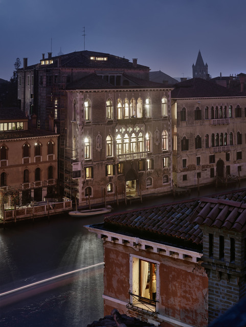 , 'Arriving home after the theater, San Marco, Venice, October,' 2017, Edwynn Houk Gallery