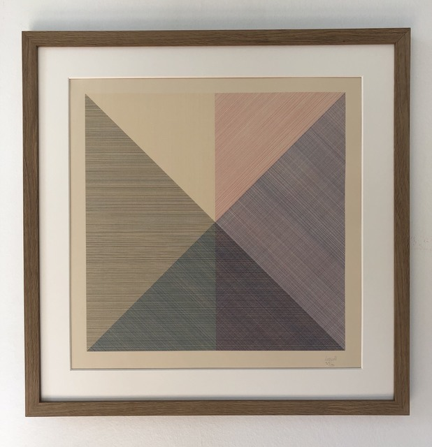 Sol LeWitt, 'Eight Squares with a Different Color in Each Half Square (Divided Horizontally and Vertically), plate #6', 1980, inch&cm