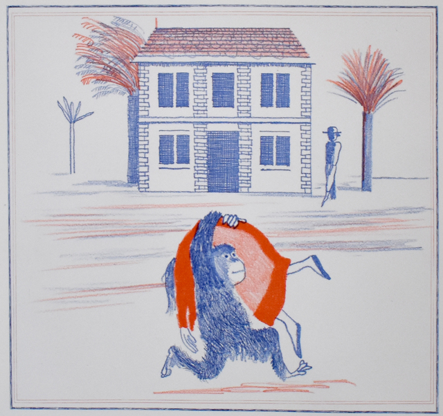 David Hockney, 'Geography Book (Félicité's only view from abroad), from: Illustration for A Simple Heart of Gustave Flaubert', 1974, Gilden's Art Gallery