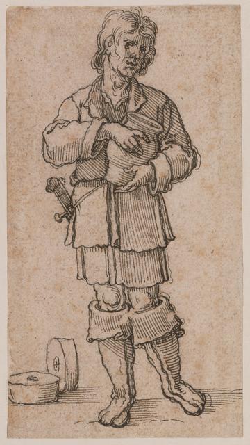 Sebald Beham, 'A Young Peasant Holding a Jar', 1520, J. Paul Getty Museum
