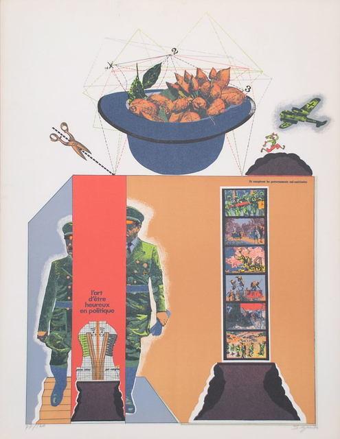 Antonio Seguí, 'Sans Démagogie', 1972, Print, Original lithograph on Arches paper, Samhart Gallery