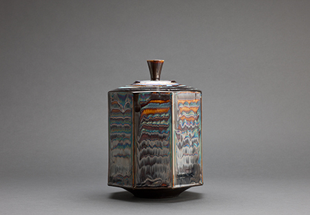 , 'Octagon box, blue waves glaze,' , Pucker Gallery