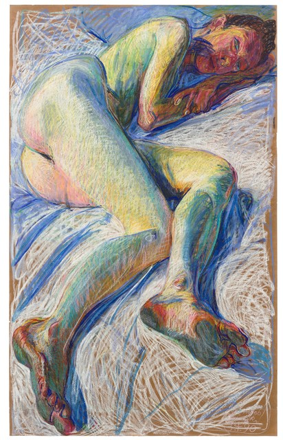 Johannes Grützke, 'Akt', 1990, Drawing, Collage or other Work on Paper, Pastel on Japan paper, Ludorff
