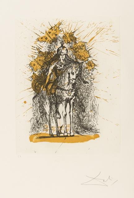 Salvador Dalí, 'Cavalier Casque aux Papillons (from Calderón: La Vie est un songe) (M&L 520a; Field 73-1-H)', 1971, Forum Auctions