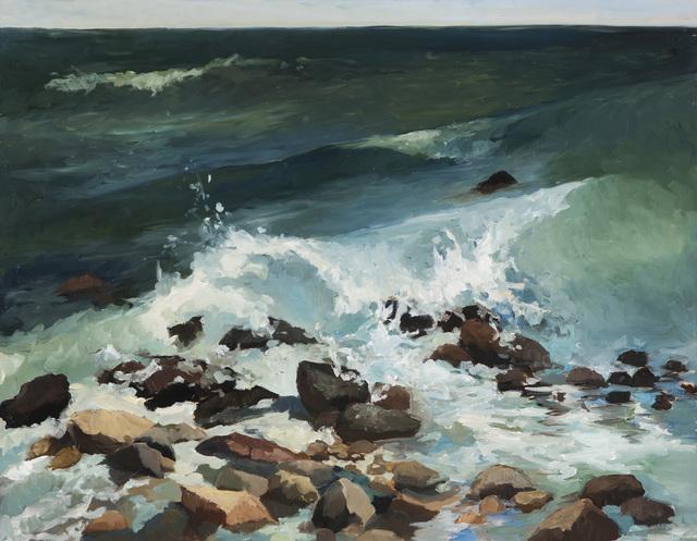 , 'Montauk Rocks,' 2017, Grenning Gallery