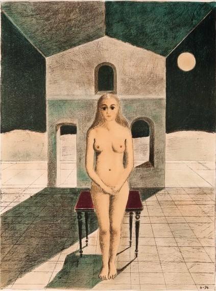 Paul Delvaux, 'La voyante', 1974, Print, Lithograph, Kunzt Gallery
