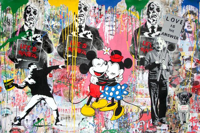 Mr. Brainwash, 'Einstein, Thrower and Mickey & Minnie', 2018, Galerie de Bellefeuille