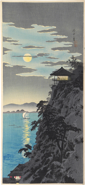 Hiroaki Takahashi (Shotei), 'Moon at Ishiyama', ca. 1924-27, Print, Woodblock print, Scholten Japanese Art