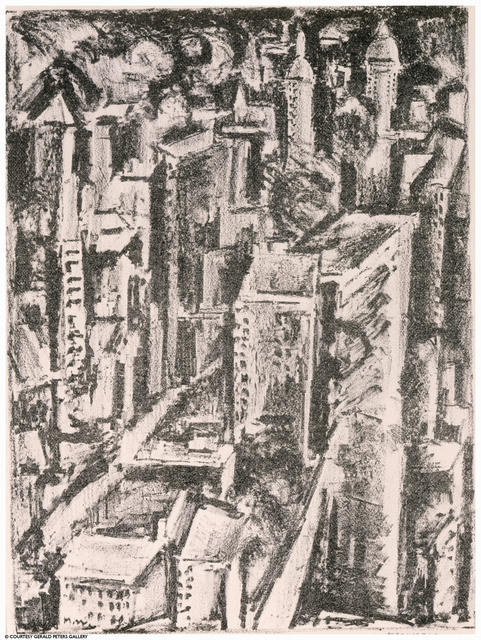 Max Weber, 'New York', ca. 1928, Print, Lithograph, Gerald Peters Gallery