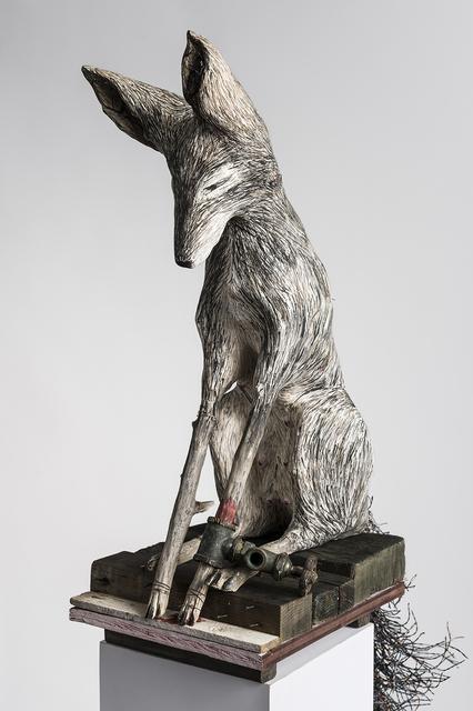 Elizabeth Jordan, 'Sculpture of Fox on pedestal, earth tone: 'Gate Valve'', 2019, Ivy Brown Gallery