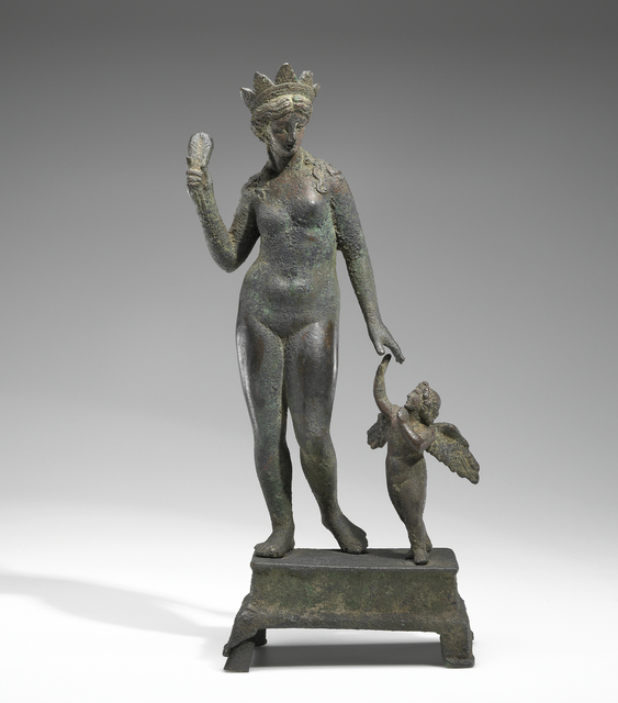 'Statuette of Aphrodite and Eros on a Base',  2nd -1st century B.C., J. Paul Getty Museum