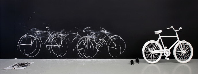 Robin Rhode, 'Chalk Bicycle,' 2011, Galerie Fons Welters