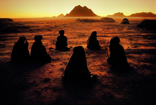 , 'Kuchi Nomads, Evening Prayer, Kandahar, Afghanistan,' 1992, Cavalier Galleries