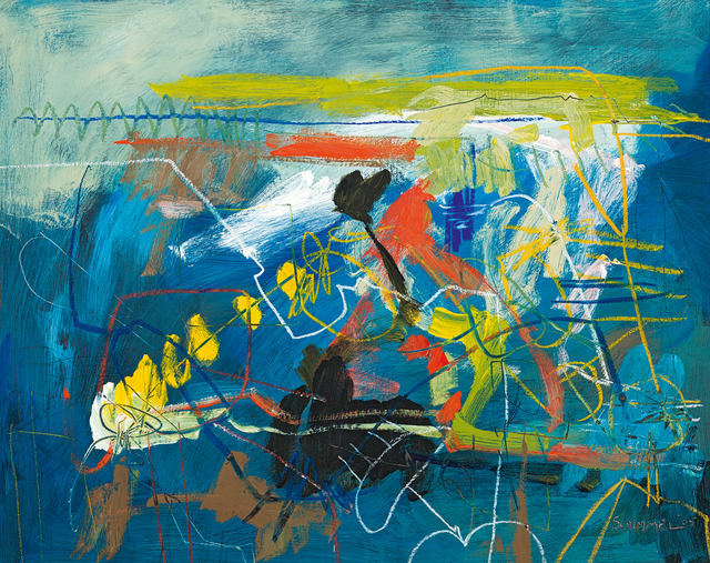 Fred Schimmel, 'Abstract in Blue', Strauss & Co