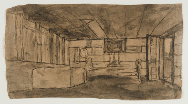 , 'Untitled (interior with open door) verso: interior with one window,' n.d., Fleisher/Ollman