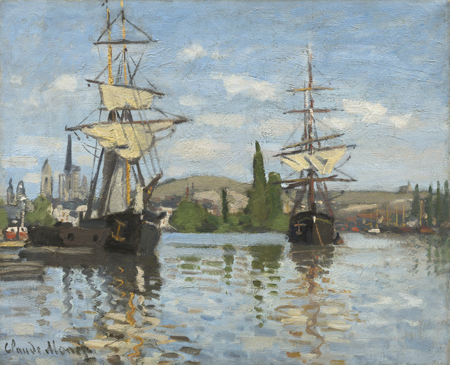 Claude Monet, 'Ships Riding on the Seine at Rouen', 1872/1873, National Gallery of Art, Washington, D.C.