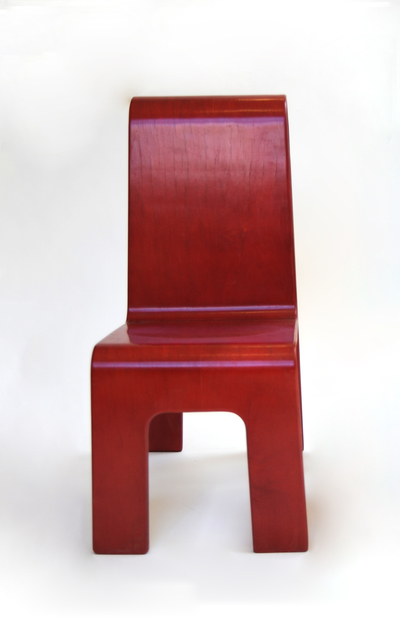 , 'Red Cut Out Chair,' ca. 1990, Nina Johnson