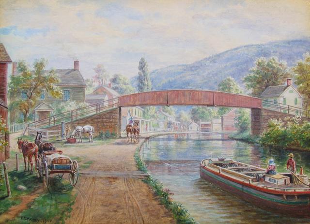Edward Lamson Henry, 'Delaware & Hudson Canal, Ellenville NY', 1900, Caldwell Gallery Hudson
