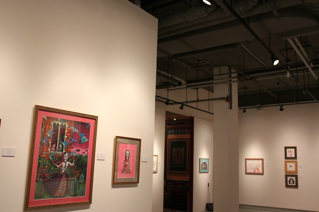 "Installation view of ""Empowering the Extraordinary Dakinis"" at Tibet House US, New York (2016). Image courtesy of Tibet House US"