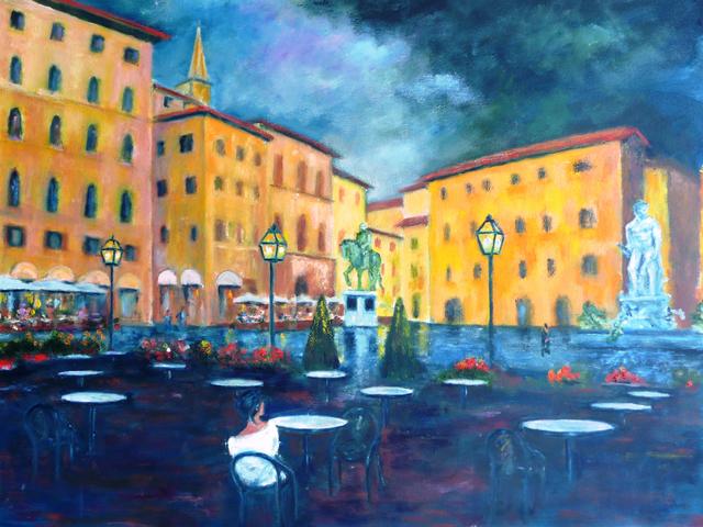 William Kelley, 'Cafe Rivoire, Piazza della Signoria, Firenze', 2012, Walter Wickiser Gallery
